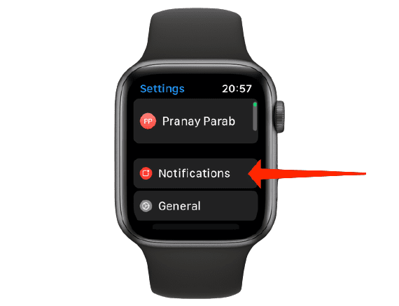 how to hide red dot on apple watch